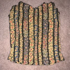 Urban Outfitters Floral Tube Top